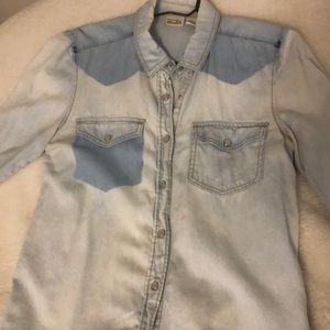 Chambray button up top